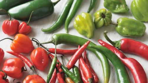 Красный и зеленый перец