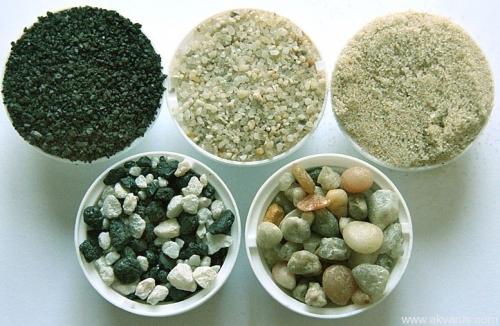 Различные виды аквариумного грунта