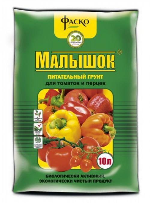 Грунт для рассады томатов и перцев Малышок